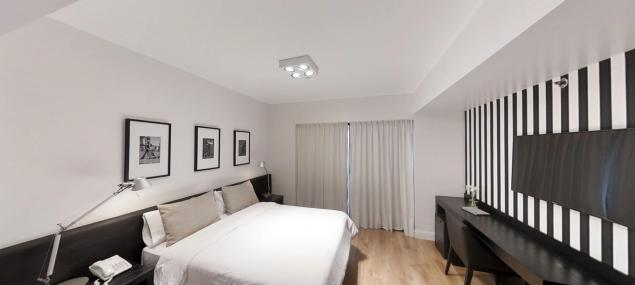 Junior room with double bed